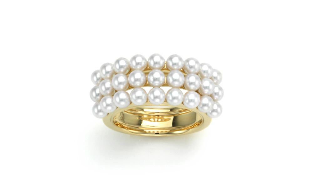 K-line / Ring / K18 / Akoya Cultured pearls