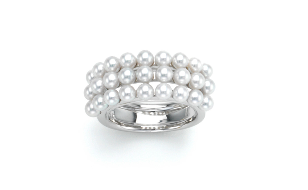 K-line / Ring / Pt950 / Akoya Cultured pearls